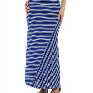🔥Kenzie Blue Striped Maxi Skirt